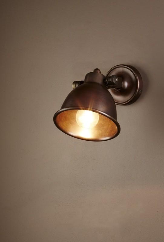 Copper Internal Wall Lights : Phoenix Wall Lamp - Antique Brass Or Silver - Creative Lighting Solutions