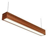 Linear Block Timber Pendant