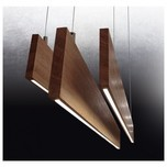 Linear Flat Timber Pendant