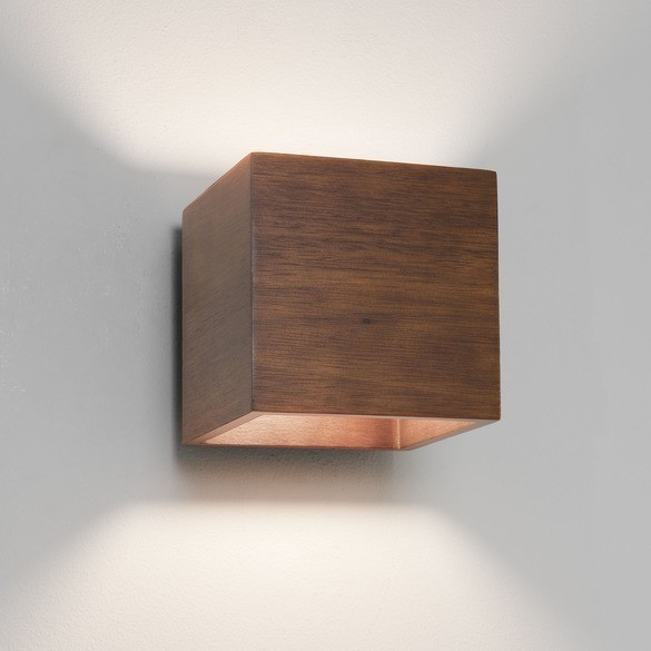 Timber cube wall light creative lighting solutions t aloadofball Images