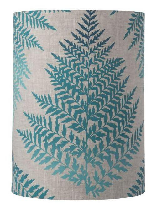 Fern Leaves Cylinder Lampshade / 4 Colours - Creative Lighting Solutions