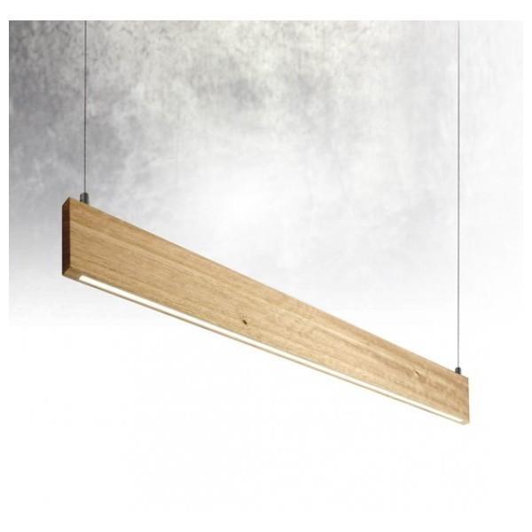 50w Led Shop Pendant Light Fixture Strip Linear Ceiling: Linear LED Flat Timber Pendant