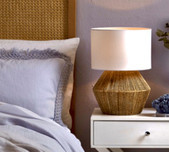 Timber and Rattan Table Lamps