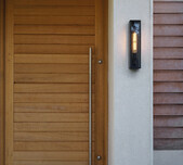 Slimline Lantern Style Wall Light / 3 Finishes