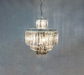 4 Tiered Crystal Prism Chandelier
