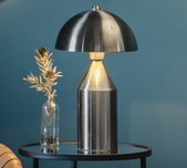 Brushed Nickel Dome Table Lamp