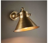 Adjustable Brass Wall Light / 2 Finishes