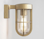 Brass Marine Cage Wall Light