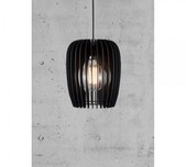Blackened Timber Curved Scandi Pendant - Small