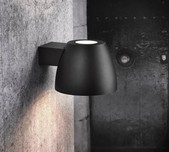 Black Scandi Bell Shaped Wall Light