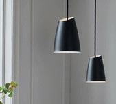 Black Tapered Scandinavian Pendant / 2 Sizes