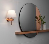 Glass Shade Vanity Wall Bracket / 7 Finishes