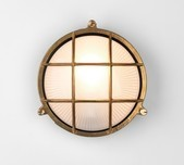 Brass Round Grill Wall Light