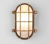 Brass Oval Grill Wall Light