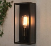 Rectangular Clear Glass Wall Light / 2 Sizes / 3 Finishes