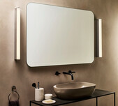 Rectangle Polished Chrome LED Vanity Light / 3 Sizes