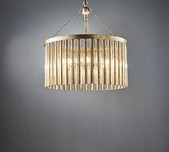 Circular 70's Style Chandelier