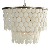 Coconut Shell Tiered Drum Pendant / 2 Colours