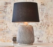Cream & Black Ceramic Table Lamp Base