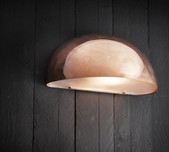 Curved Exterior Wall Light / 2 Sizes / 4 Finishes