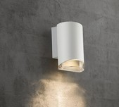 Curved Exterior Wall Down Light / 2 Finishes