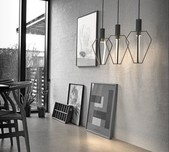 Danish Black Metal LED Pendant Light