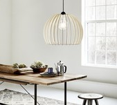 Danish Curved Timber Pendant / 3 Sizes
