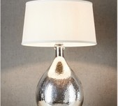 Dimpled Glass Table Lamp