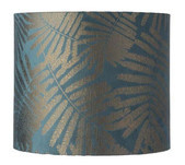 Fern Leaves Wild Drum Lampshade / 5 Colours