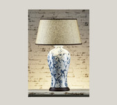 Porcelain & Basket Weave Table Lamp