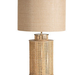 Handwoven Bamboo Table Lamp