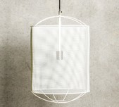 Metal Drum Cage Pendant - Large