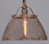 Iron Mesh Factory Pendant / 2 Sizes
