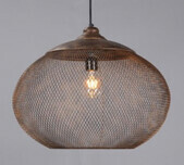 Iron Mesh Oblique Pendant / 2 Sizes