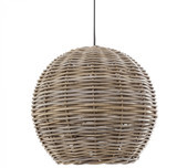 Natural Rattan Ball Pendant