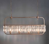 Horizontal French Style Crystal Chandelier