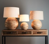 Mango Wood Table Lamp / 2 Finishes / 3 Sizes