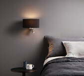 Matt Nickel Wall Bracket LED Reader / 4 Shade Colours