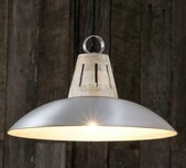 Metal & Timber Warehouse Pendant Light