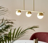 Nordic Orb Linear 3L Pendant / 2 Finishes