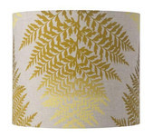Fern Leaves Drum Lampshade / 4 Colours