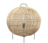 Rattan Weave Table Lantern / Round