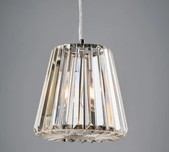 Ribbed Glass Pendant / 2 Sizes