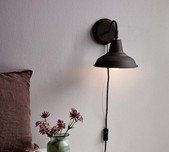 Rust Brown Nordic Wall Light
