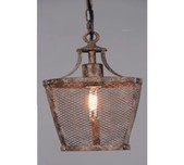 Rustic Mesh Factory Pendant / 2 Sizes