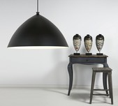 Scandinavian Black Dome Pendant Light 50