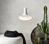 Scandi Frosted Glass Pendant / 2 Finishes