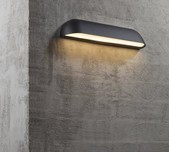 Curved Profile LED Wall Light / 2 Sizes / 2 Finishes