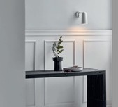 Slimline Soft Curve Scandi Wall Light / 2 Finishes