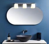 Triple Glass Shade Vanity Light